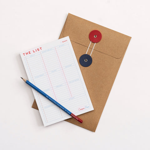 The Shopping List Notepad