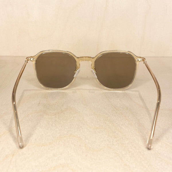 Square Frame Sunglasses - Clear