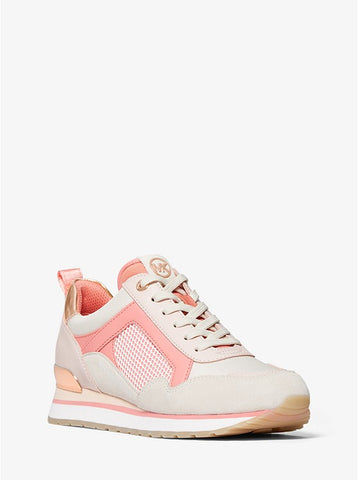 MICHAEL KORS Wilma Mixed-Media Trainer