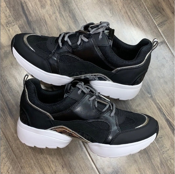 Michael Kors Georgie Woven Leather Trainer