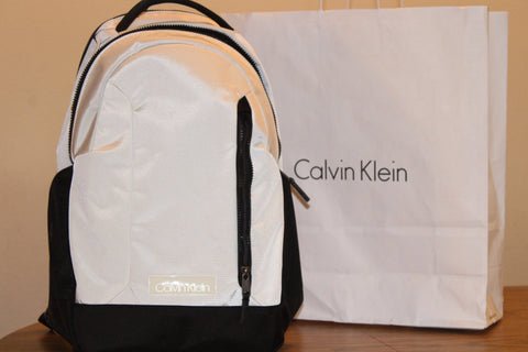 Calvin Klein Backpack White Polyester For Men