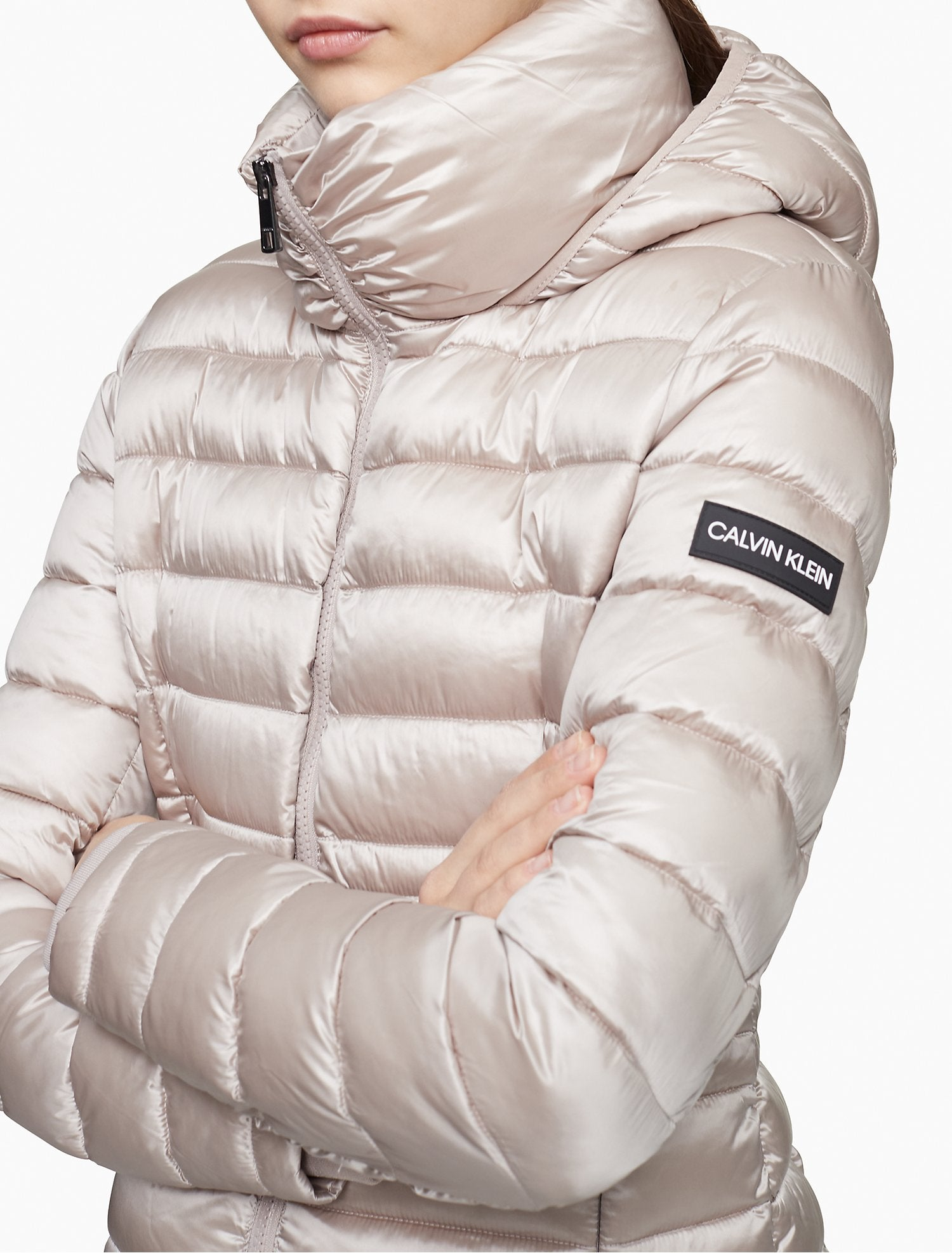 Calvin Klein Packable Logo Hooded Puffer Jacket