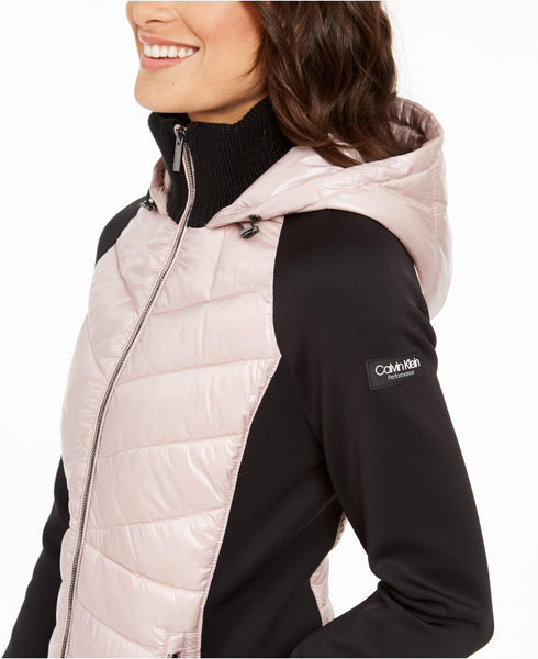Calvin Klein performance mixed-media quilted jacket