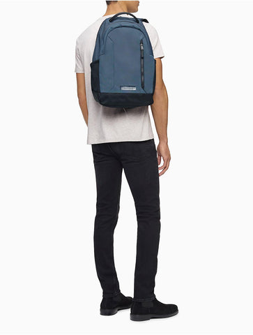 Calvin Klein Men's Casual Nylon Double Zip Backpack