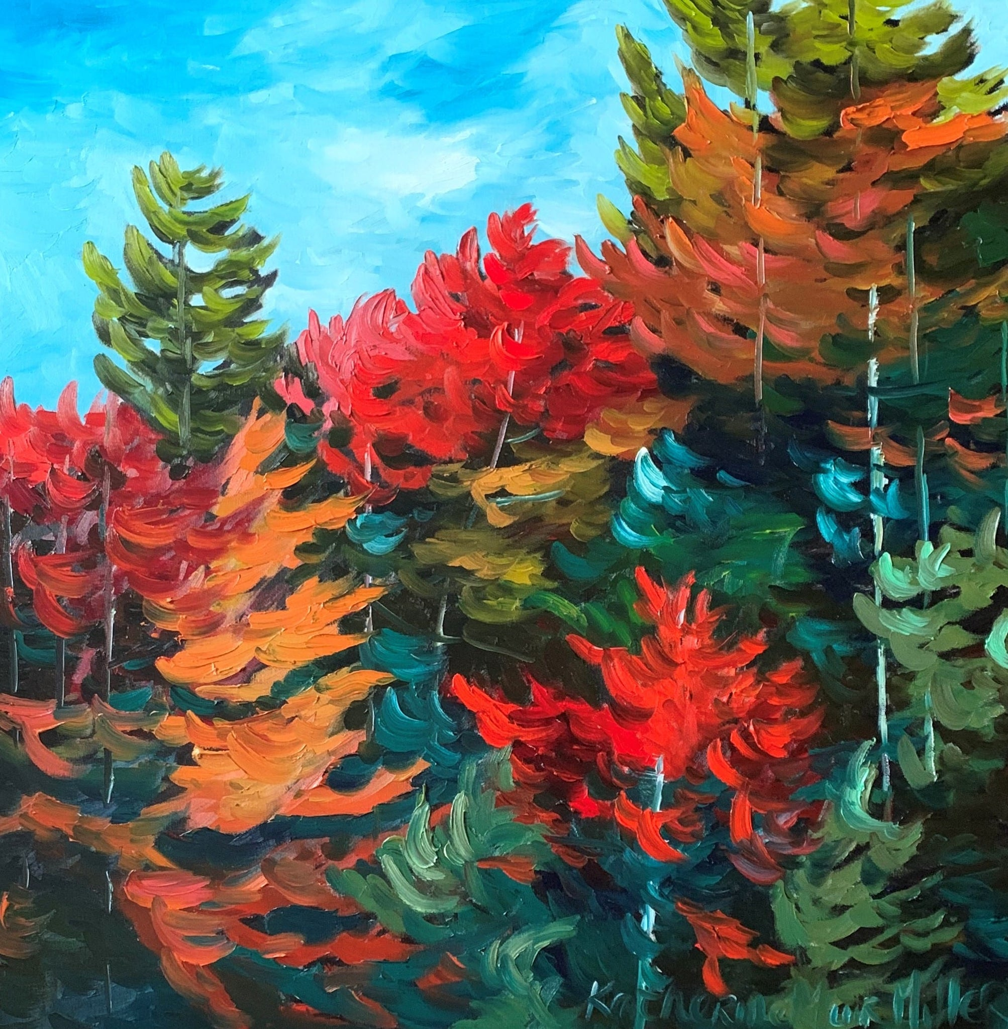 Oil artwork titled Late Summer