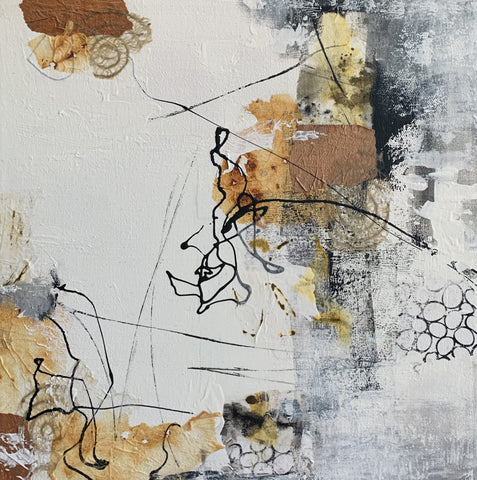 Mixed Media artwork titled Pathways I