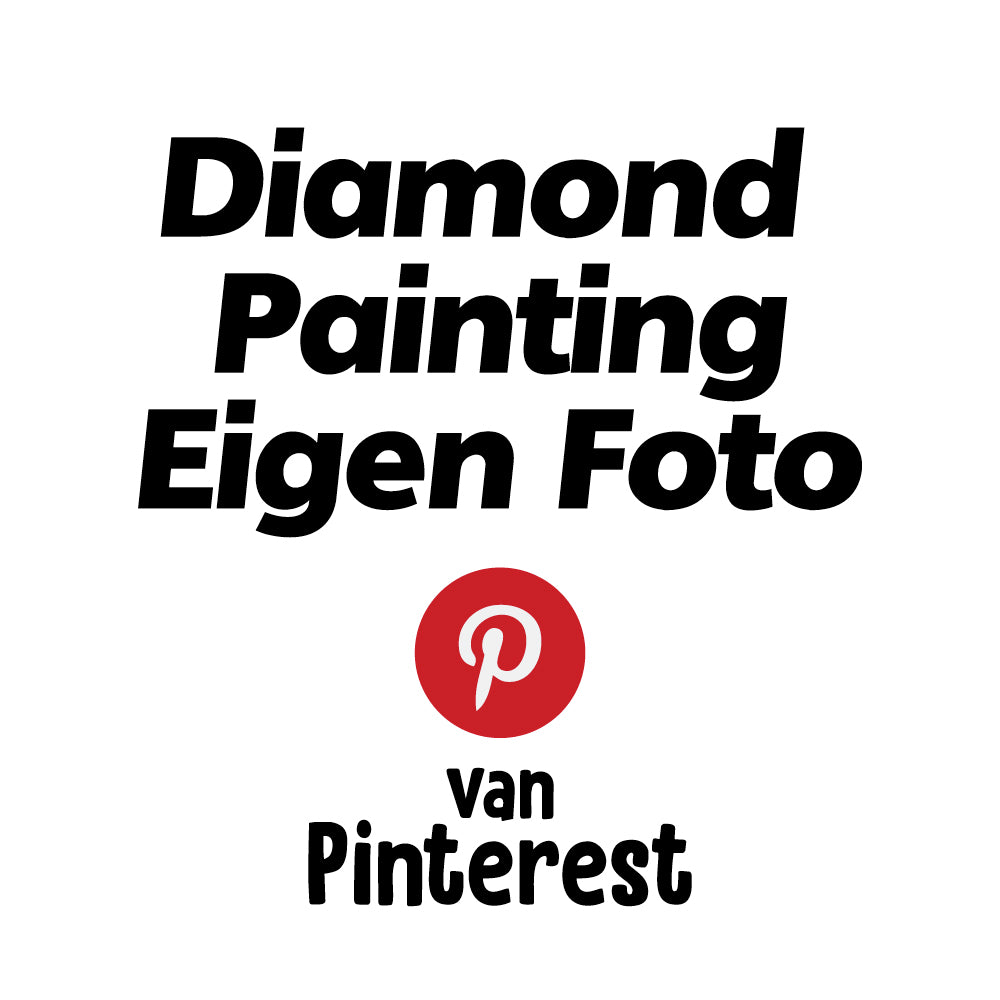 Diamond Painting Eigen Foto van Pinterest