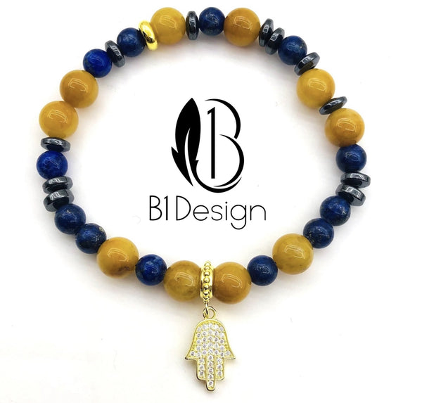 BRACCIALE FATIMA GOLD YELLOW LAPS
