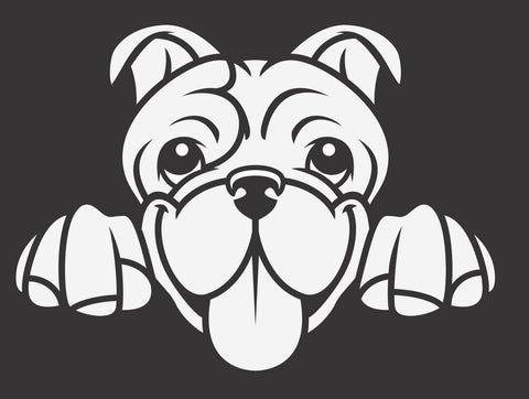 Bulldog Peek Decal