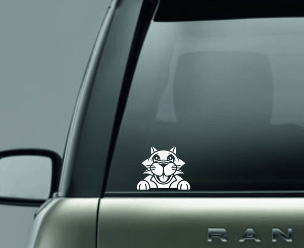 Cat 2 Peek Decal