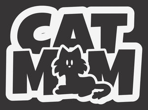 Cat Mom Long Hair 2 Decal