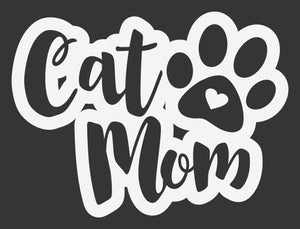 Cat Mom Pawprint 1 Decal