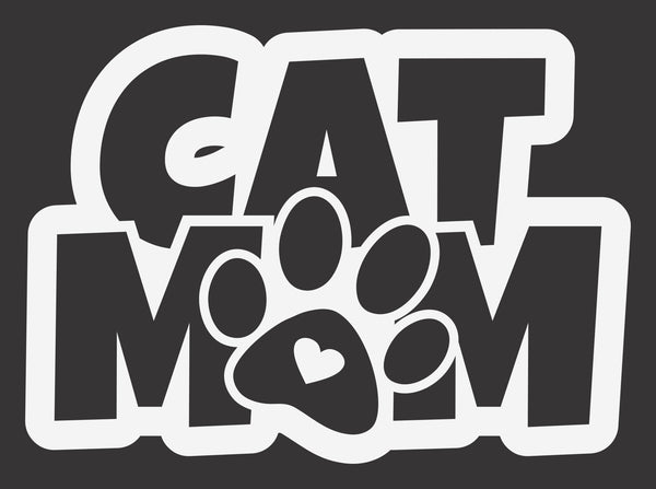 Cat Mom Pawprint 2 Decal