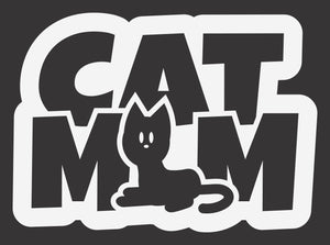 Cat Mom Short Hair 2 Decal