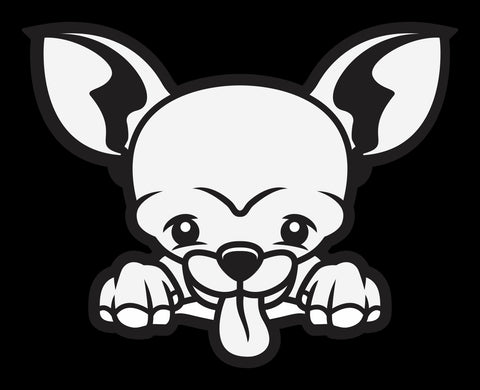 Chihuahua 2 Peek Decal