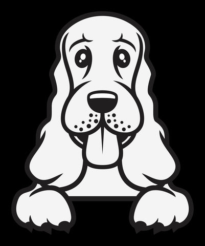 Cocker Spaniel Peek Decal