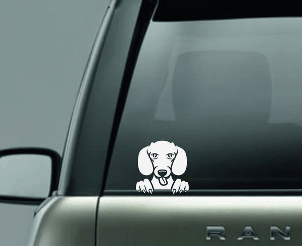 Dachshund 2 Peek Decal