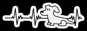 Dog Heartbeat 4 Decal