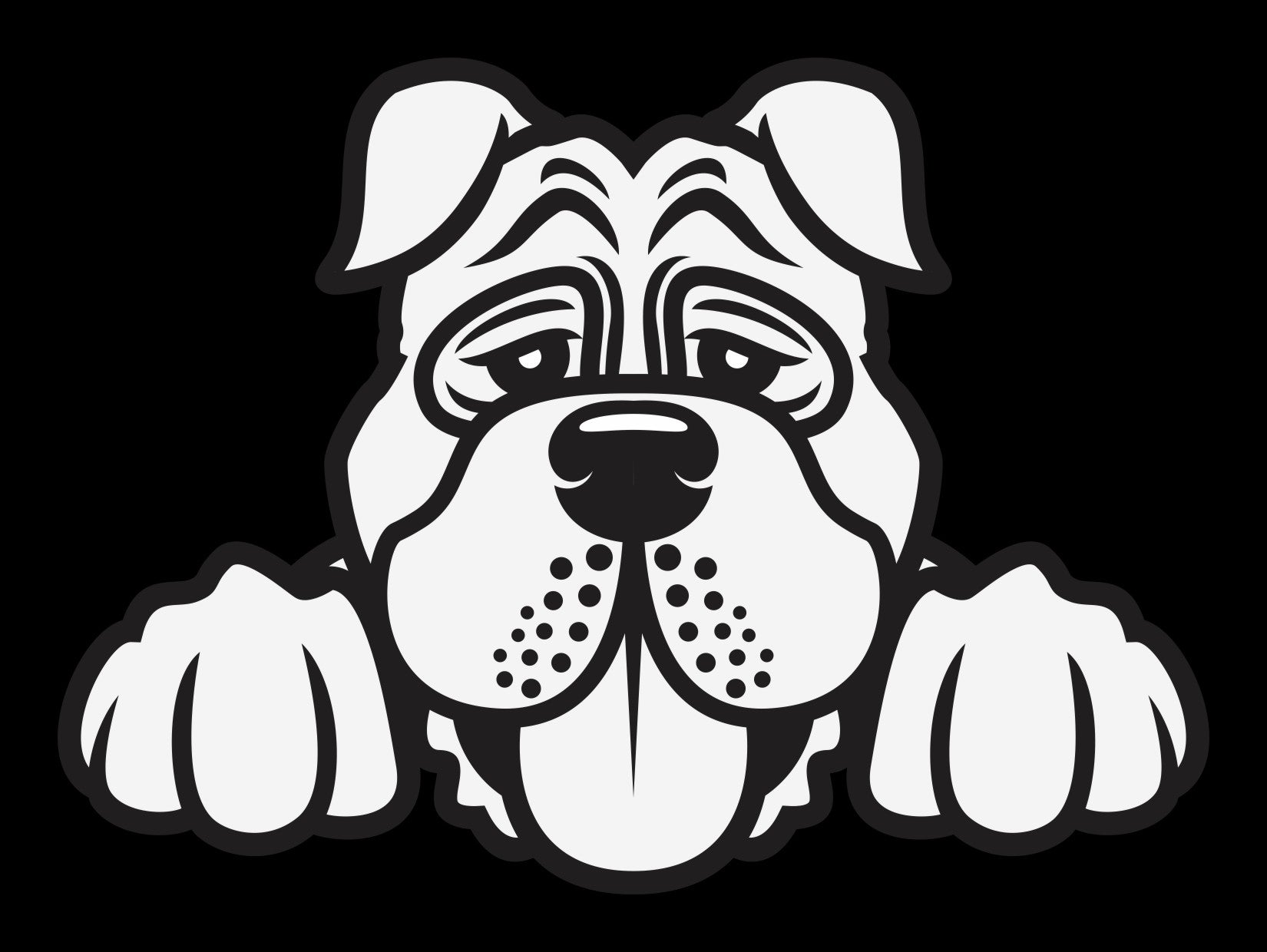 English Mastiff Peek Decal