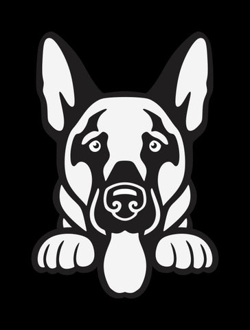 German Shepherd 1 Peek Decal