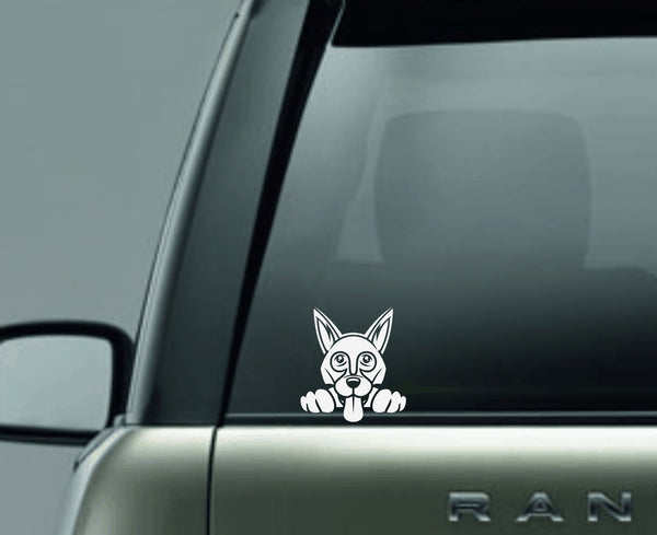 German Shepherd 2 Peek Decal