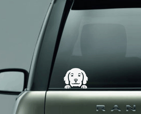 Golden Doodle Peek Decal