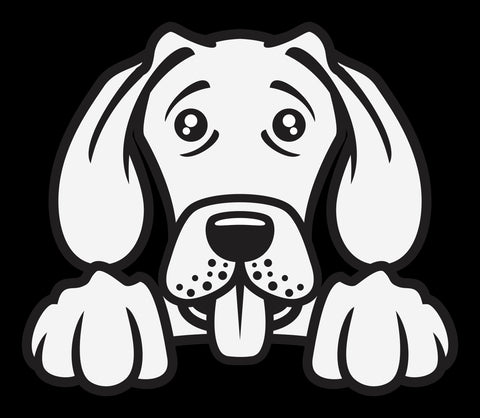 Weimaraner Peek Decal