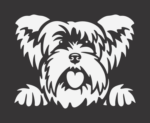 Yorkshire Terrier 2 Peek Decal