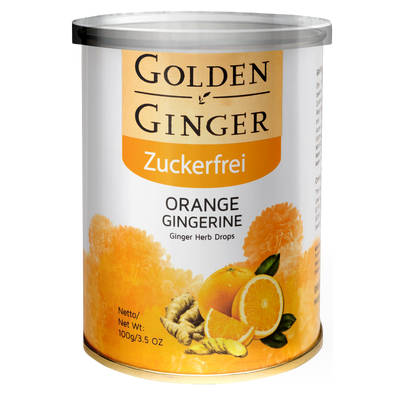 Golden-Ingwer, Ingwerbonbons - Orange (Zuckerfrei), Ingwer