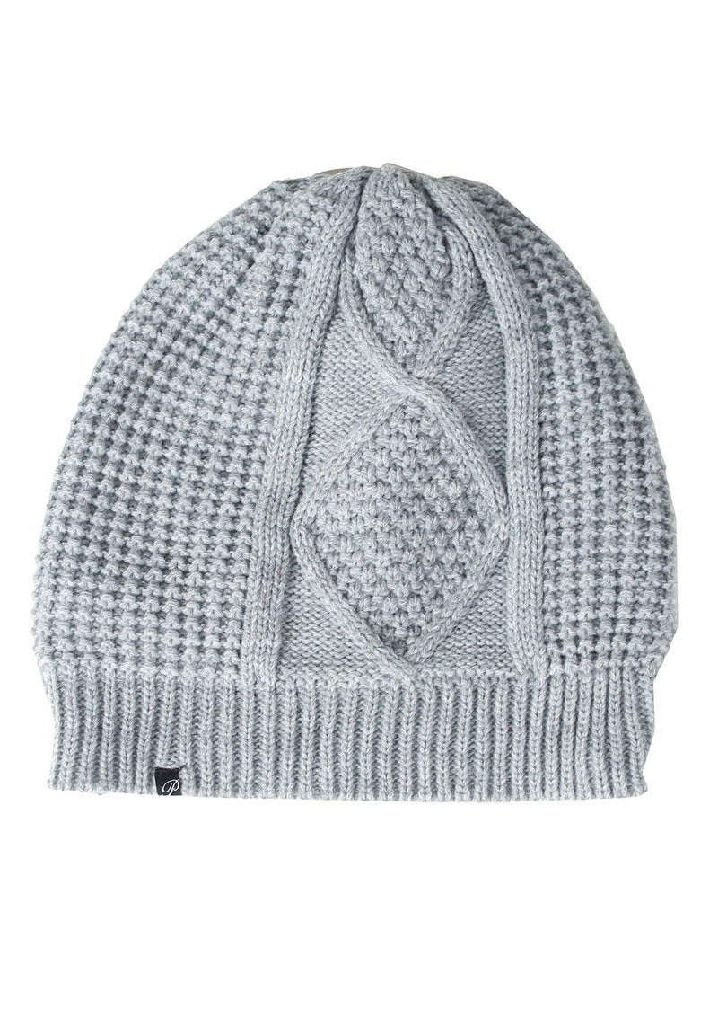 Fleece-Lined Cable Knit Beanie