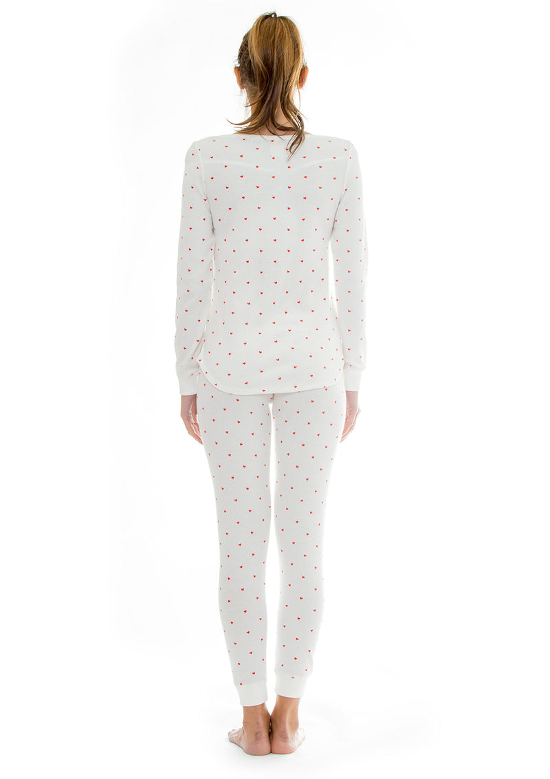 Thermal Heart Pajama + Scrunchie Set