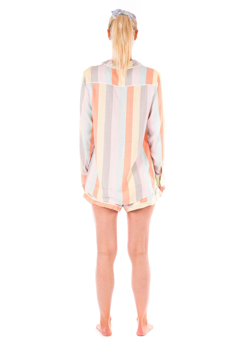 Ultra Soft Rainbow Stripe Pajama Set