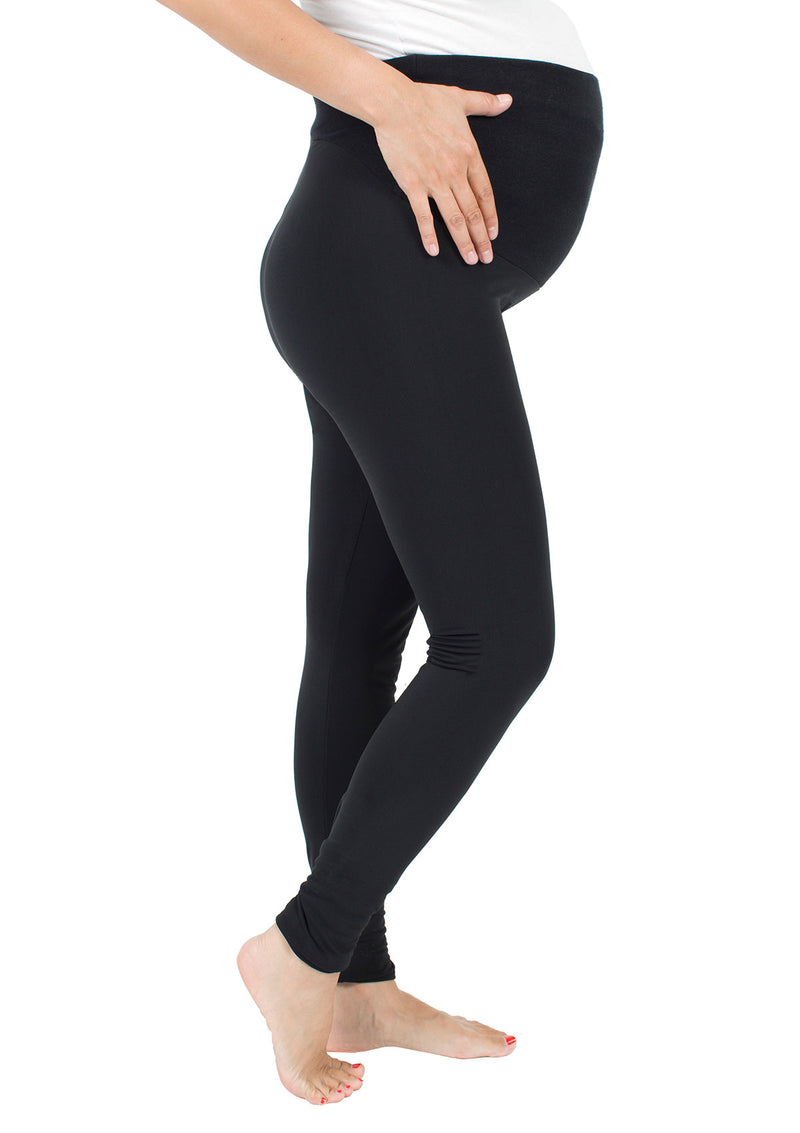 Maternity Fleece-Lined Matte Spandex Legging
