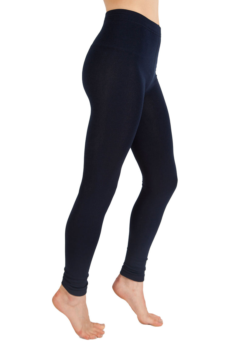 Fleece-Lined Footless Tights