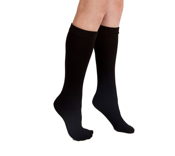 Black Fleece-Lined Knee Highs