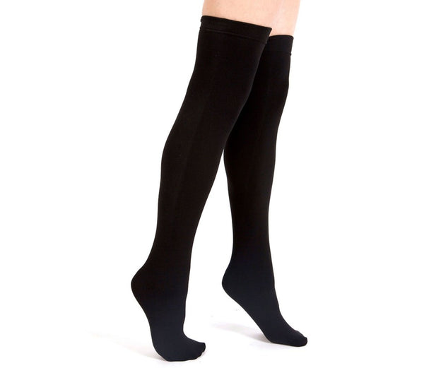 Black Fleece-Lined Thigh Highs