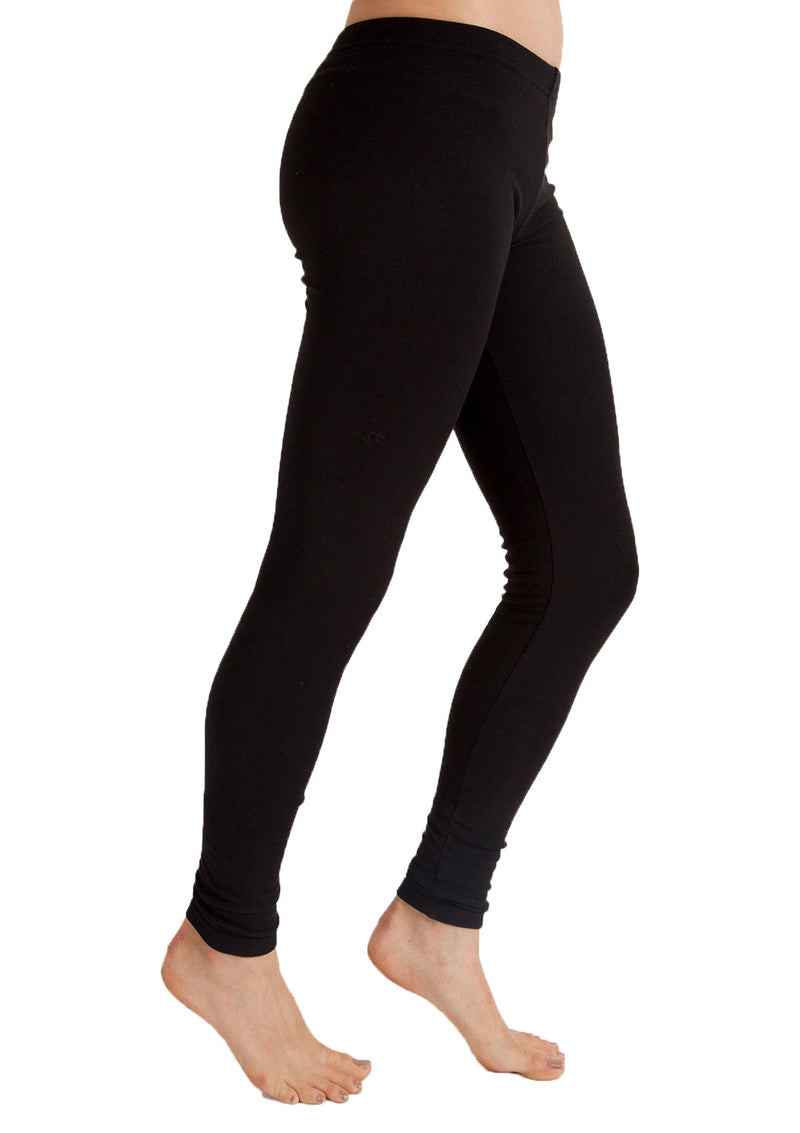 Cotton Fleece-Lined Legging