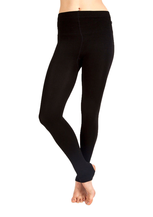 Fleece-Lined Stirrup Tights