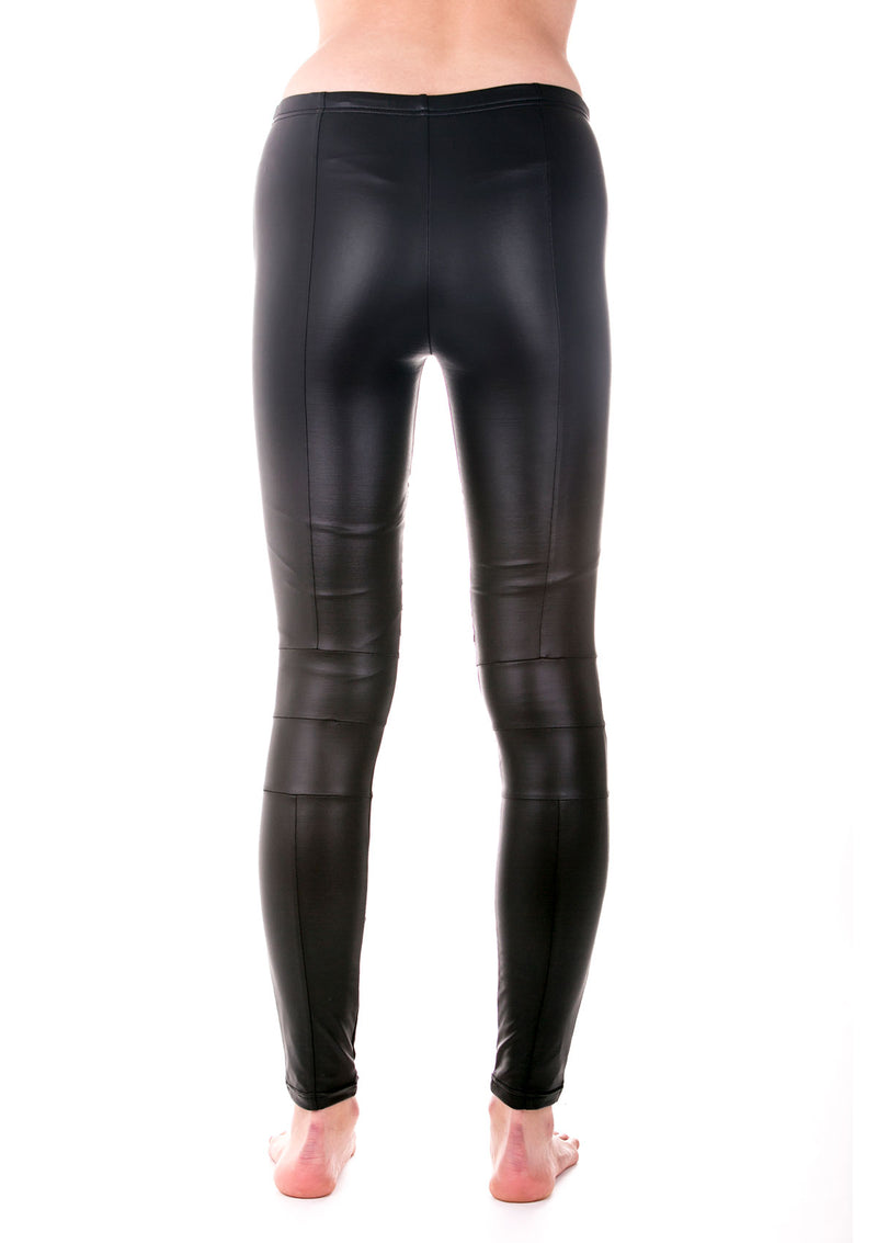 Fleece-Lined Liquid Moto Legging