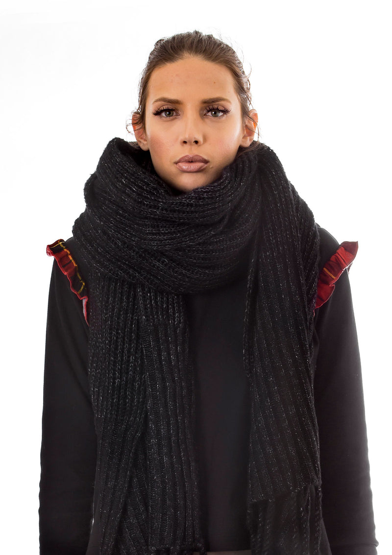 Oversized Ribbed Scarf