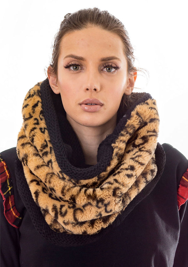 Reversible Faux Fur Cheetah Neckwarmer