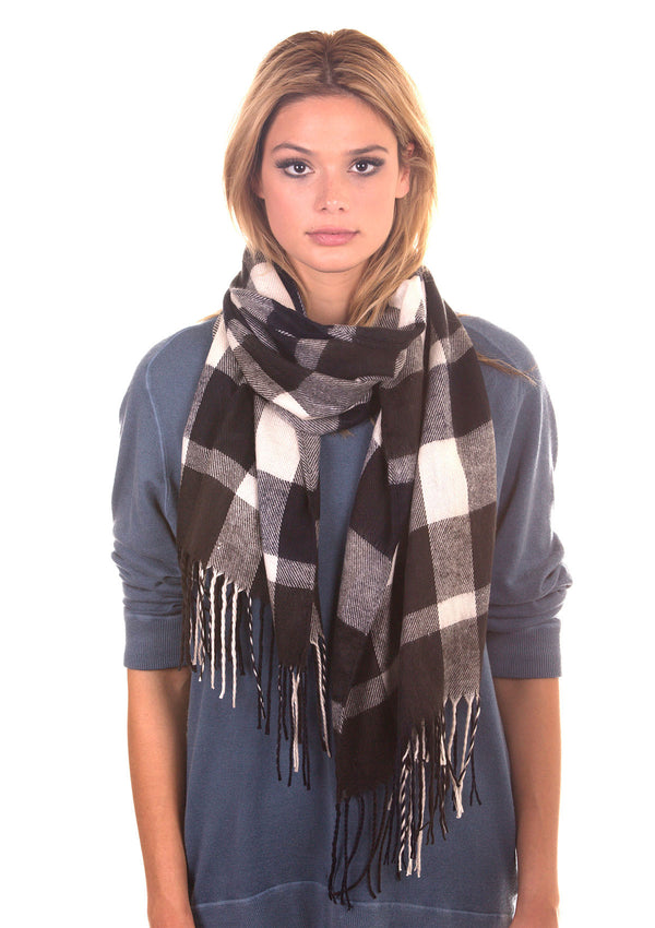 Ultra Soft Fleece Plaid Scarf
