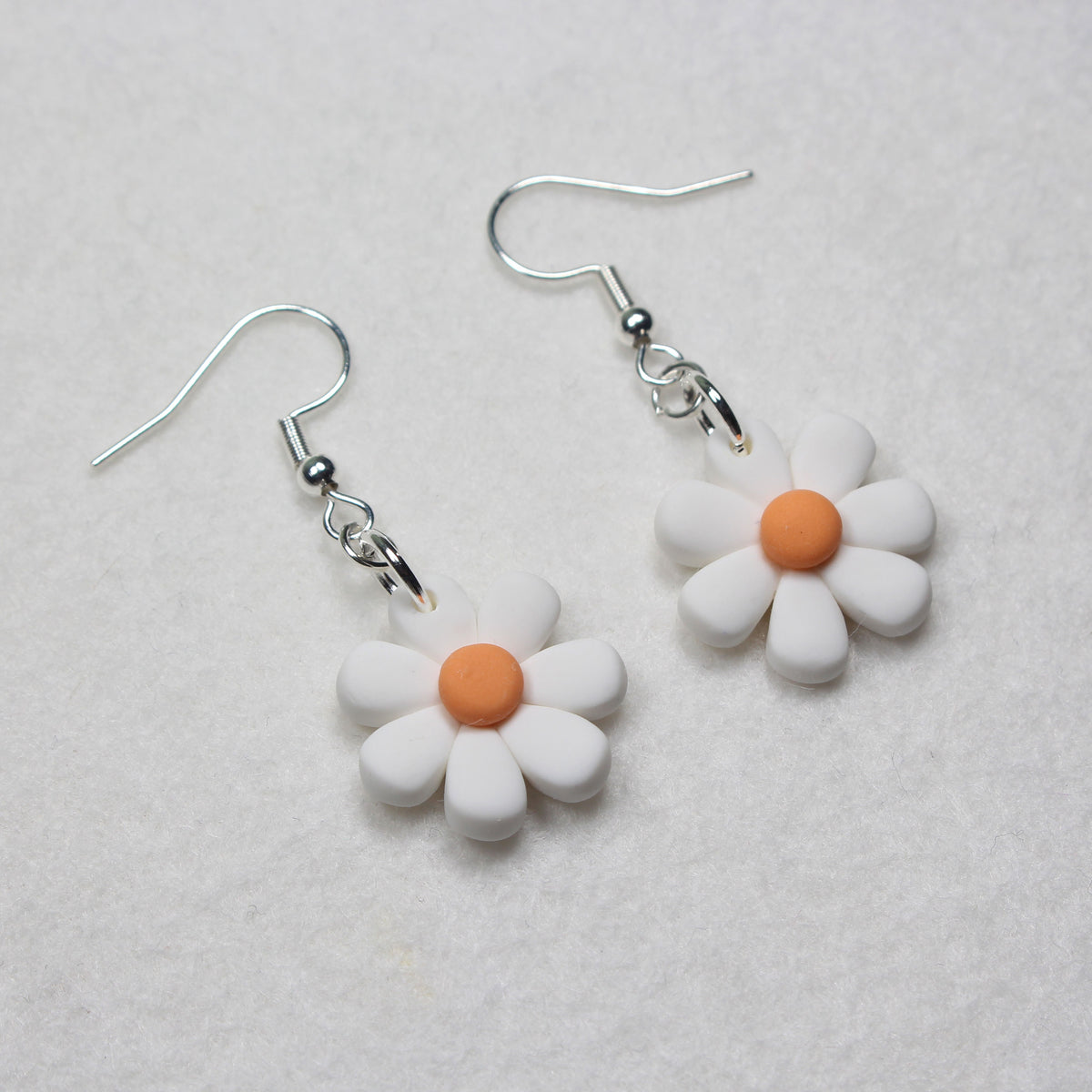 Curved Daisy Hook Earrings