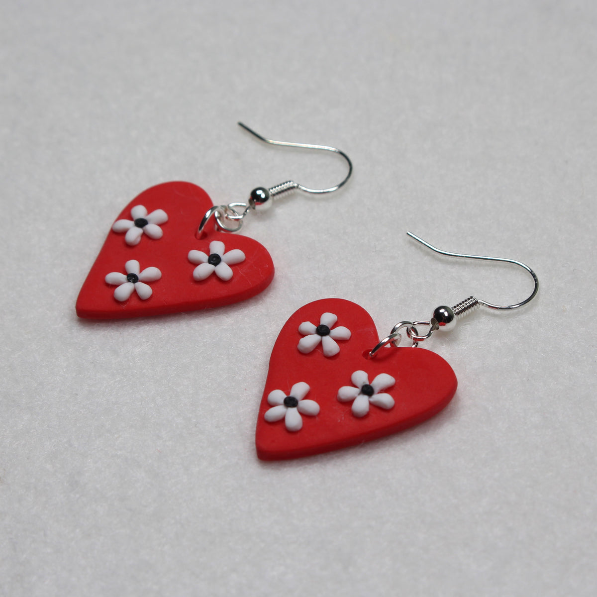 Daisy Heart Hook Earrings