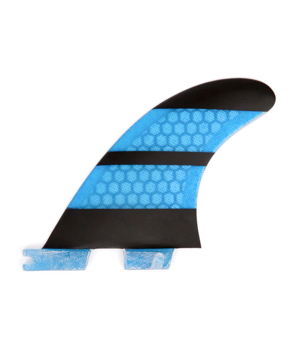 FCS2 Fins Thruster - The Stripe - Carbon Fiber Fins G3 Blue 1