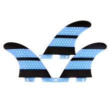 Load image into Gallery viewer, FCS2 Fins Thruster - The Stripe - Carbon Fiber Fins 4