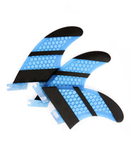 Load image into Gallery viewer, FCS2 Fins Thruster - The Stripe - Carbon Fiber Fins G5 Blue 3