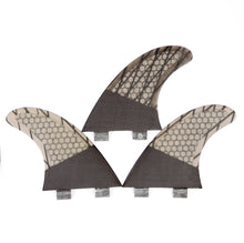 Load image into Gallery viewer, G3 FCS Fins Thruster - Kids Surfboard Fins - Carbon Fiber Fins Fins G3 Grey 4