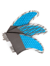 Load image into Gallery viewer, FCS2 Fins Thruster - Manly Surf Fins - Carbon Fiber Fins G5 Blue 3