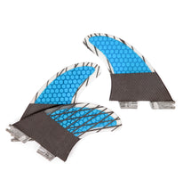 Load image into Gallery viewer, FCS2 Fins Thruster - Manly Surf Fins - Carbon Fiber Fins G7 Blue 2